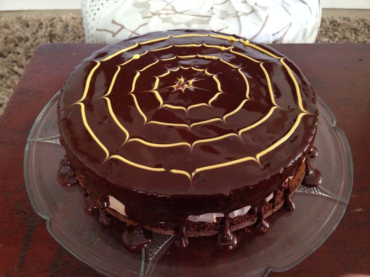 Halloween cake/ all chocolate