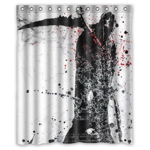 Nice Black Death Grim Reaper Shower Curtain. Perfect For Halloween And Horror  Fans!