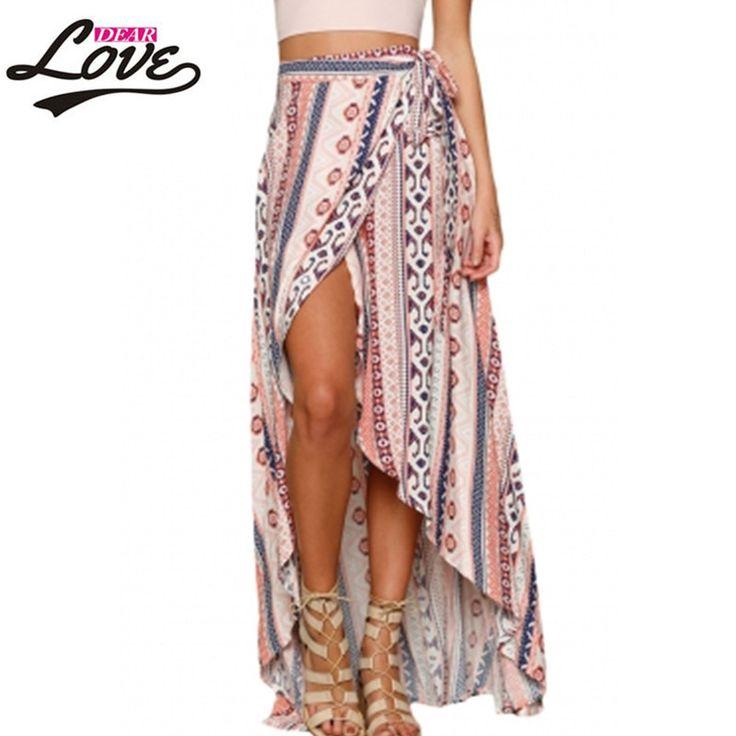 2017 vestido leopardo Tunic Bohemian Ethnic Print Maxi Skirt Wrapped Beach Skirt Women LC42061 New Fashion Stylish Summer Sarong