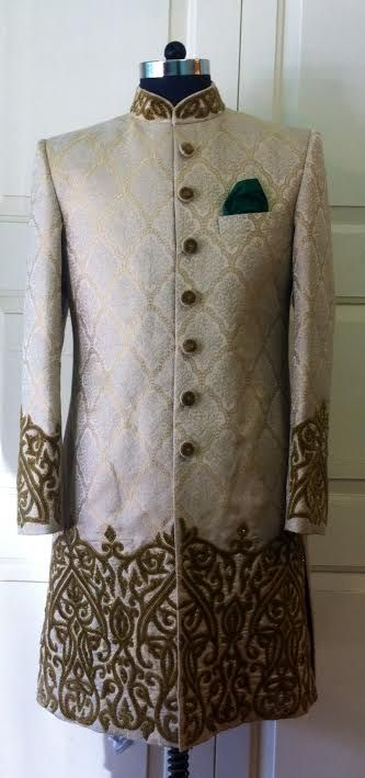 golden sherwani by sagar tenali.