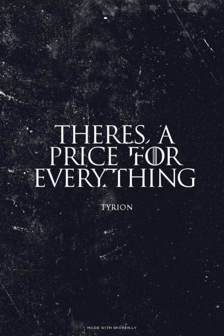 Game of Thrones - Tyrion Lannister quotes
