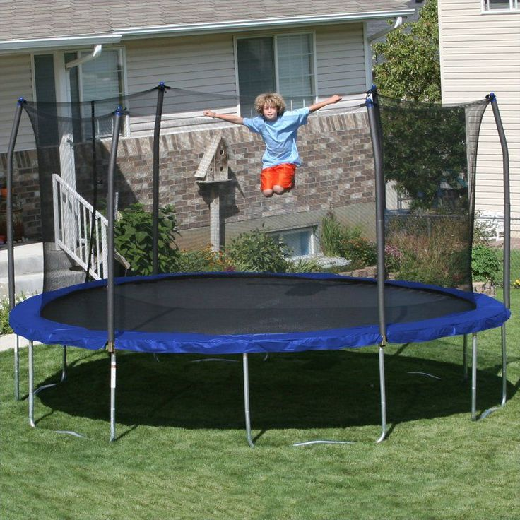 Skywalker 15-ft. Round Trampoline with Spring Pad Blue - SWTC1500