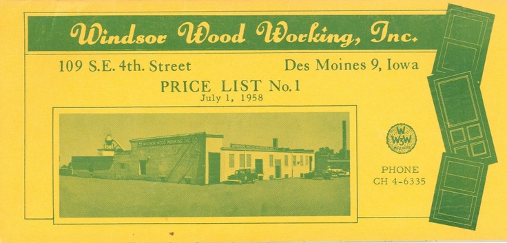 Windsor's 1958 price book.