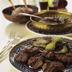 Marinated Grilled Lamb Loin Strips (Kusbasi Kebabi) Recipe - This recipe for lamb kebabs is a local specialty in the city of Gaziantep, Turkey. The food there blends the best from Turkish, Armenian, Arabic, Jewish, and Kurdish cooking.-Saveur.com