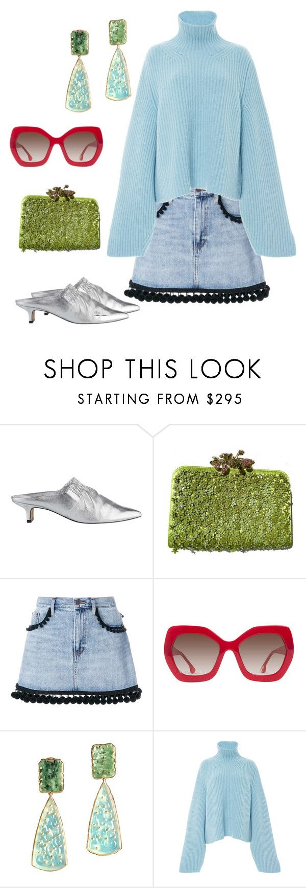 """Blue sweater"" by kvogele on Polyvore featuring Sigerson Morrison, Valentino, Marc Jacobs, Alice + Olivia, Giulia Colussi and Khaite"