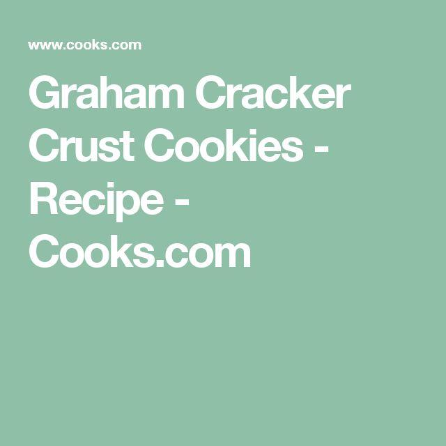 Graham Cracker Crust Cookies - Recipe - Cooks.com