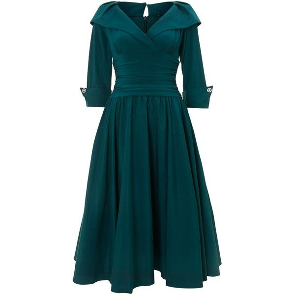 Eliza J 3/4 sleeve ruched waist dress (£65) ❤ liked on Polyvore featuring dresses, vestidos, teal, women, three quarter sleeve dress, sleeve dress, blue dress, v neck shift dress and below the knee dresses