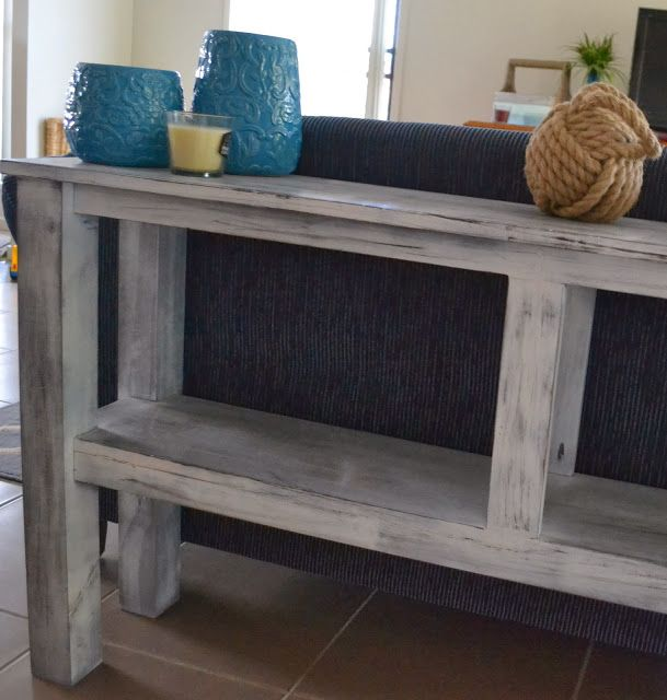 our sofa console table diy