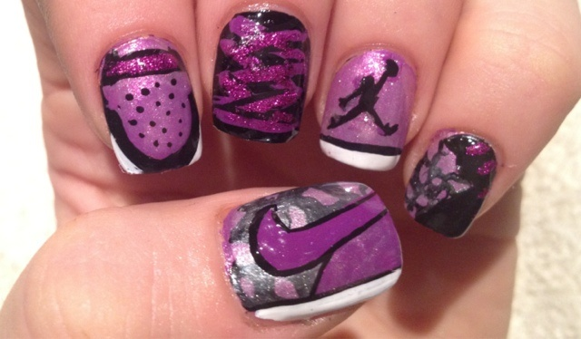 i wouldnt wear it now...but in my sneaker/jordan days...yes this is me!! Nike Jordan Nails