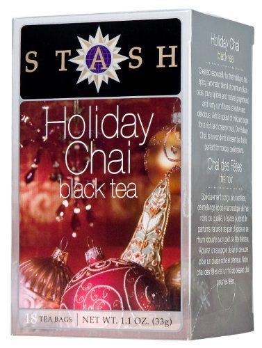 Stash Tea Holiday Chai Tea, 18 Count Tea Bags in Foil (Pack of 6) - http://teacoffeestore.com/stash-tea-holiday-chai-tea-18-count-tea-bags-in-foil-pack-of-6/