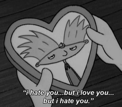 "When you and bae have a fight. | Community Post: 20 ""Hey Arnold!"" Quotes That You Need In Your Life the struggle, helga."