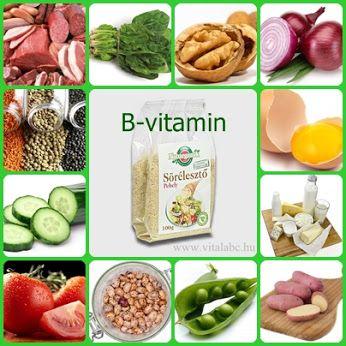 B vitamint tartalmazó ételek  A sörélesztő tartalmazza az összes B-vitamint. A-vitamint tartalmazza a húsfélék, olajos magvak ( főleg dió), a lencse, a bab. A zöldség félékből pedig a spenót, paradicsom, a hagyma az uborka és a burgonya. Tejtermékekbe is található A-vitamin és a tojásban is.