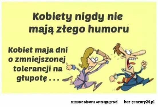 Zły humor kobiety