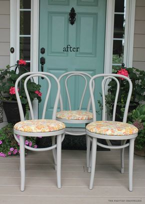 Kitchen Chair Makeover Seat Cushions