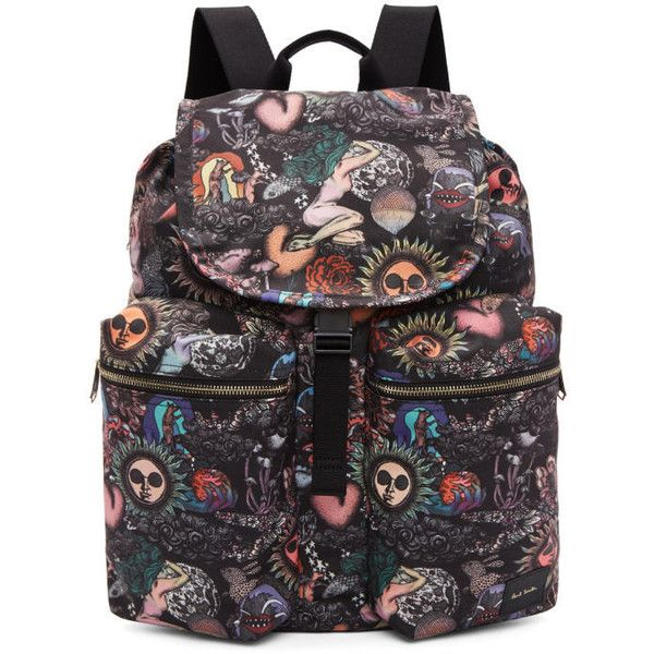 Paul Smith Multicolor Drawstring Backpack ($505) ❤ liked on Polyvore featuring men's fashion, men's bags, men's backpacks, multicolor and mens drawstring backpack