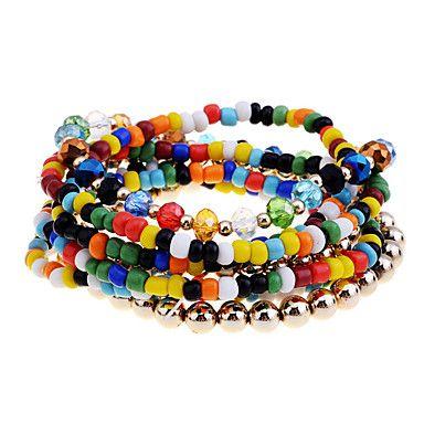 Lureme estilo bohemio Bead Set pulsera (colores surtidos)