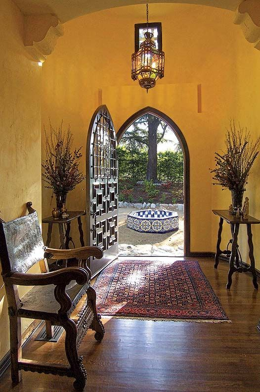 The 1925 Spanish Revival home was built by Arthur Kelly (who built more than 500 Spanish Colonial Revival and Tudor Revival buildings in California).