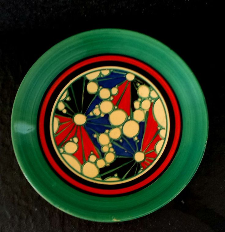 """clarice cliff """"Broth"""" lunch plate #PLATE"""
