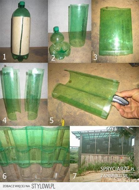 Recycle Soda Bottles (PET) Into Greenhouse of any size.