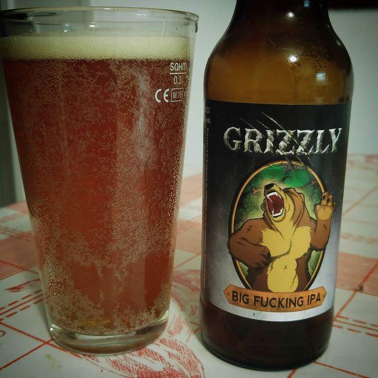Dégustation de la Grizzly Big Fucking IPA de la brasserie du même nom en #Auvergne #CraftBeer ............................................................................. #BeerTime #ZythoTaste #Beer #Bier #Bière #Øl #Olut #Olout #Öl #Birre #Birra #Cerveza #Pivo #Cerveja #Пиво #ビール #Bīru #Bia  #igbeer #beersommelier #beerstagram #loversbeer #instapic