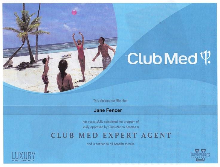 Club Med Expert Agent Certification