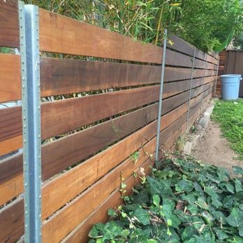 Back view of the fence, we usedsteel posts. - Yelp