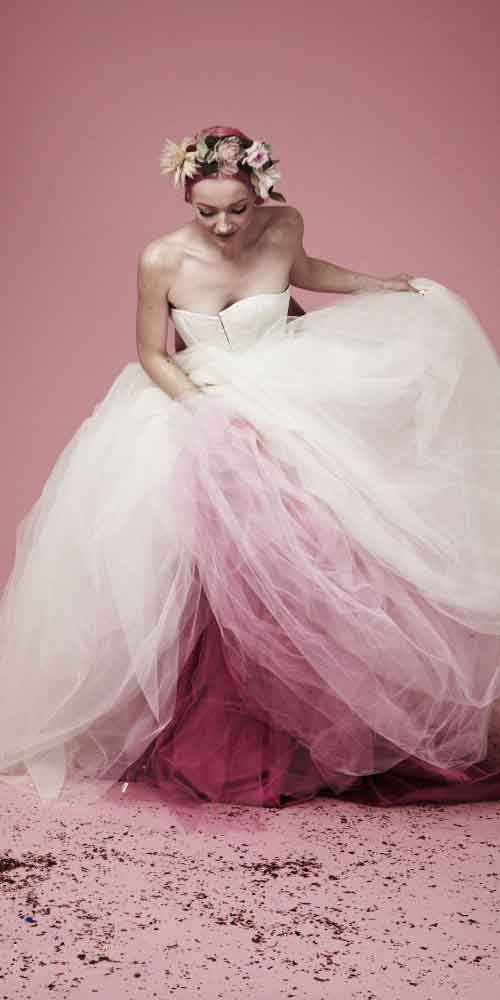 18 Colorful Wedding Dresses Perfect For The Non-Traditional Bride ❤ See more…