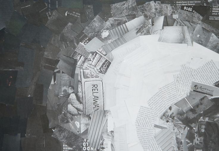 [Nirmana] Black n White Collage by Casey Gunawan (batch 2016, UPH Product Design)
