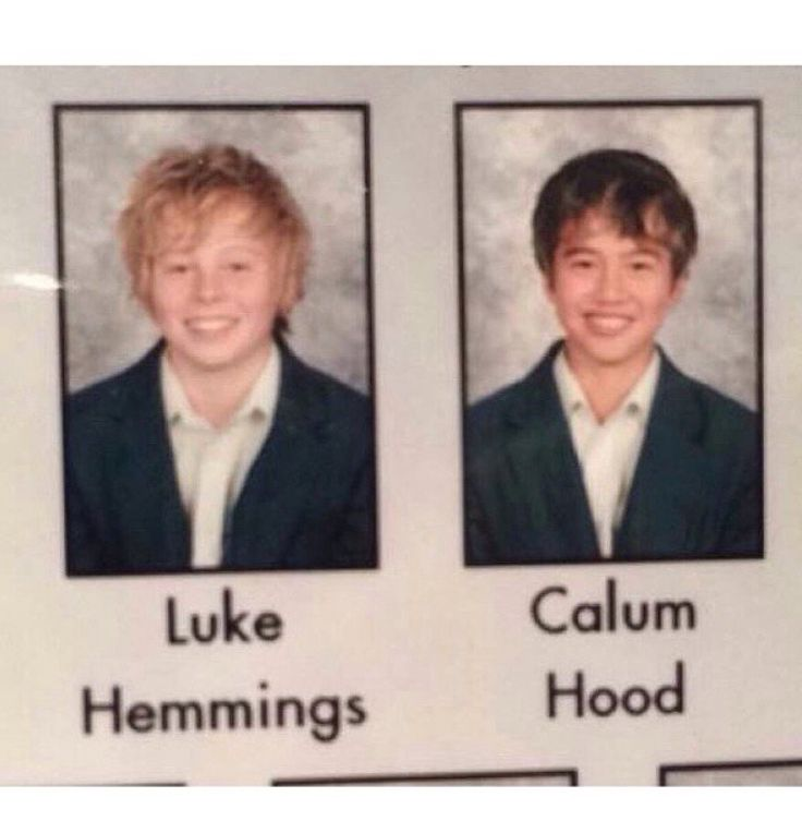 Baby Luke & Calum in yearbook!!