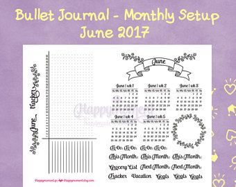 Bullet Journal Monthly setup