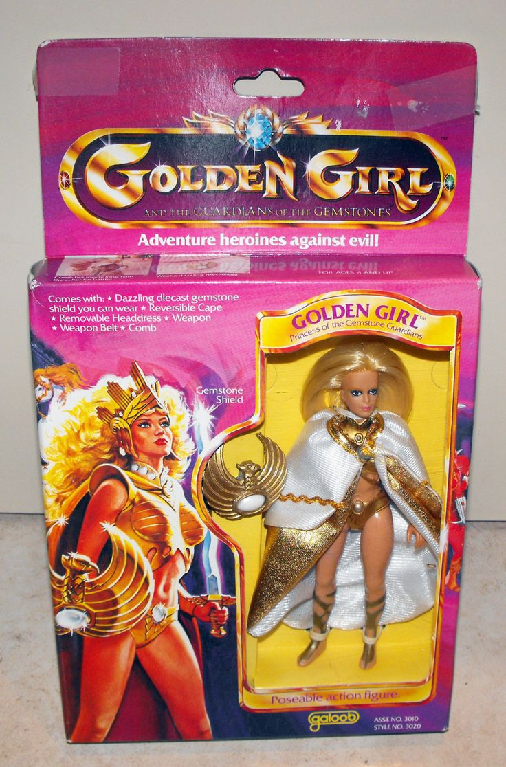 I was starting to think that I was making this thing up. Vintage MIB 1984 Galoob Golden Girl Action Figure Doll. $19.99, via Etsy.