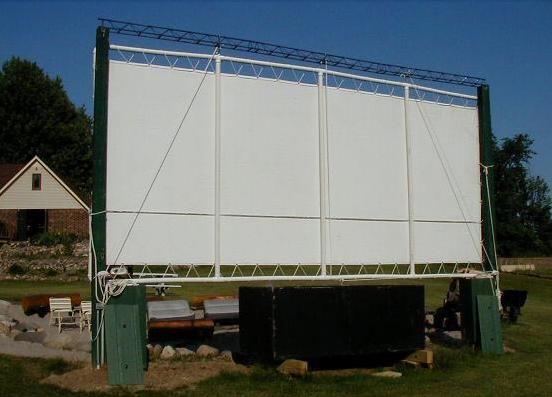Construir una pantalla de cine patio trasero del PVC para el proyector LCD.