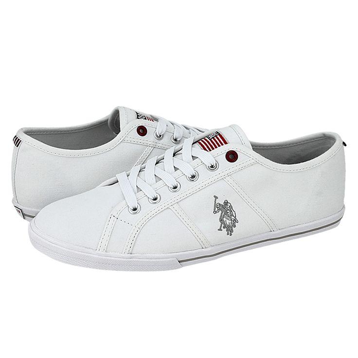 Callow - Ανδρικά παπούτσια casual U.S. Polo ASSN από υφασμα με υφασμάτινη φόδρα και συνθετική σόλα.  Διατίθεται σε χρώμα Μπλε, Κόκκινο, Λευκό και Μαύρο.