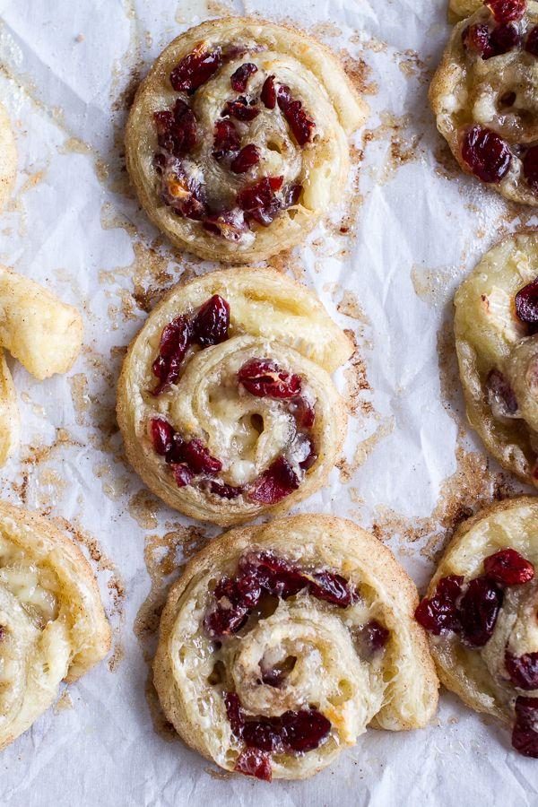 (Idiot Proof) 5-Ingredient Cranberry + Brie Cinnamon Sugar Puff Pastry Swirls   halfbakedharvest.com @hbharvest