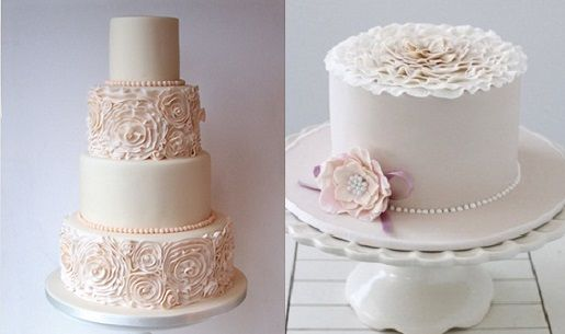 Ruffle rosette cakes from Jen's Cakery (left) and Bake-a-Boo NZ (right). See the full collection on Cake Geek Magazine here: http://cakegeek.co.uk/index.php/ruffle-rose-cakes/
