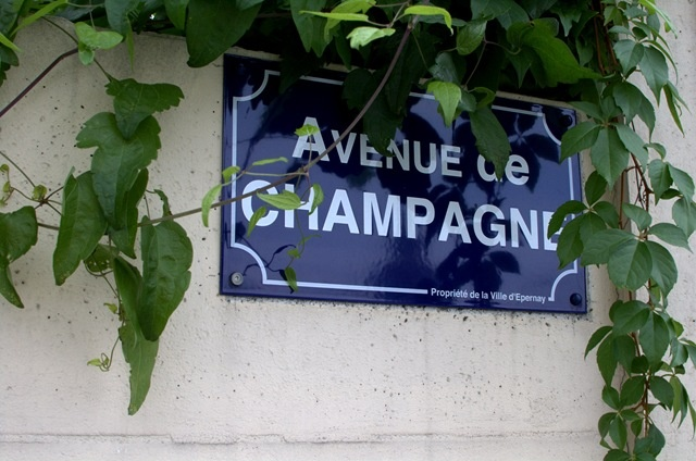 Avenue de champagne, Epernay, France.