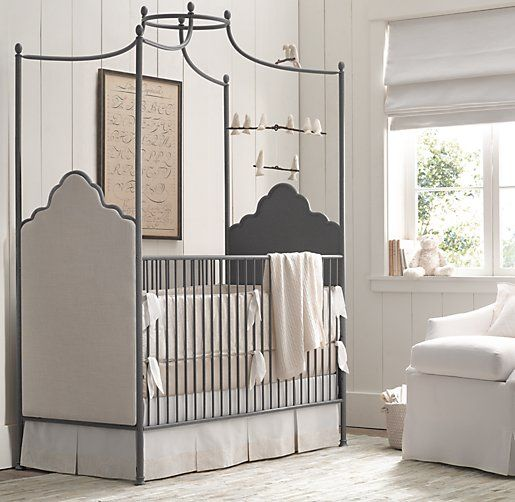 Augusta Iron Canopy Crib | Cribs | Restoration Hardware Baby & Child