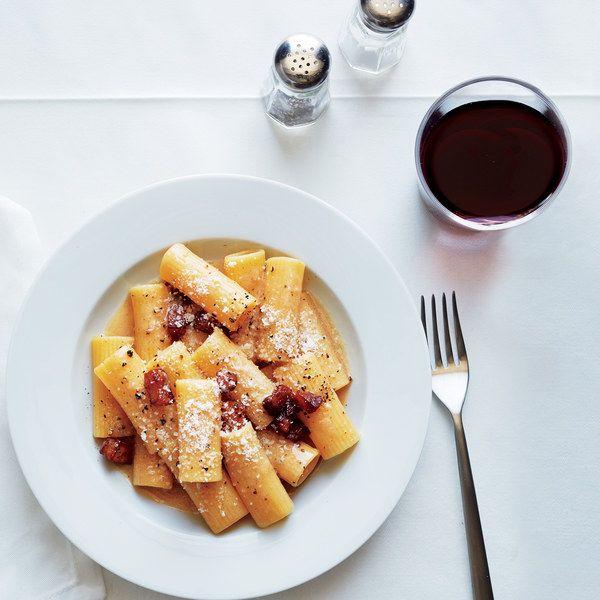 Both guanciale and Pecorino are quite salty; Leonardo Vignoli, the chef at Da Cesare al Casaletto, recommends undersalting the pasta water to give you more control.