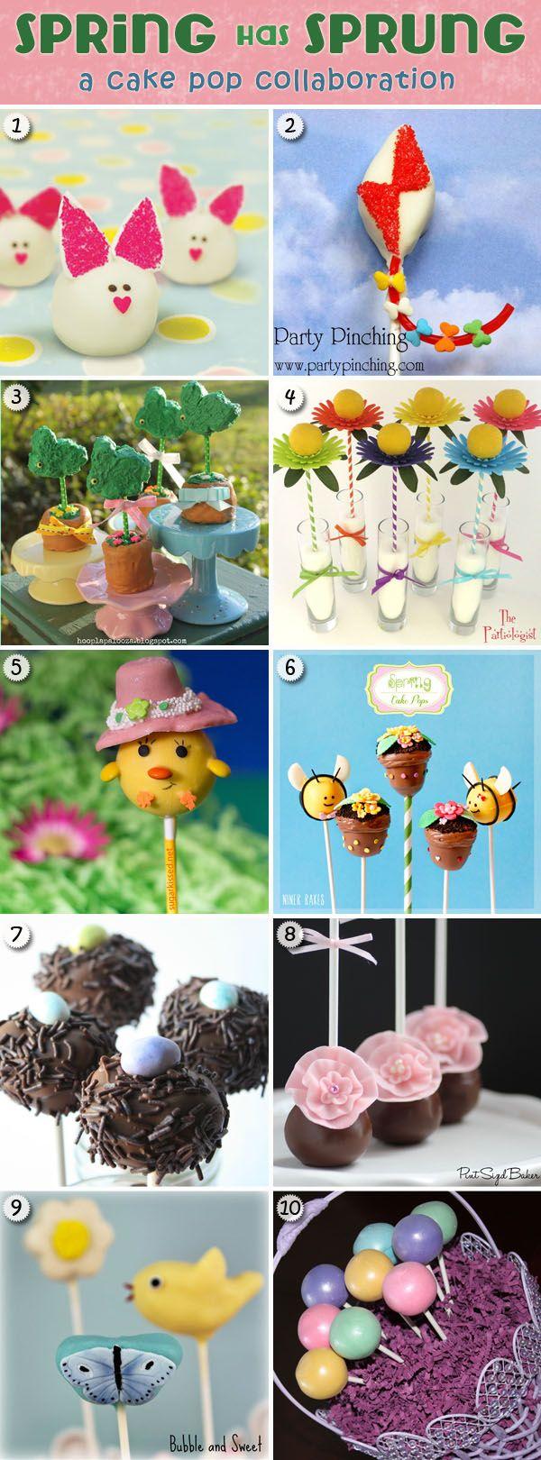Bunny Cake Bites & Spring Cake Pop Collaboration