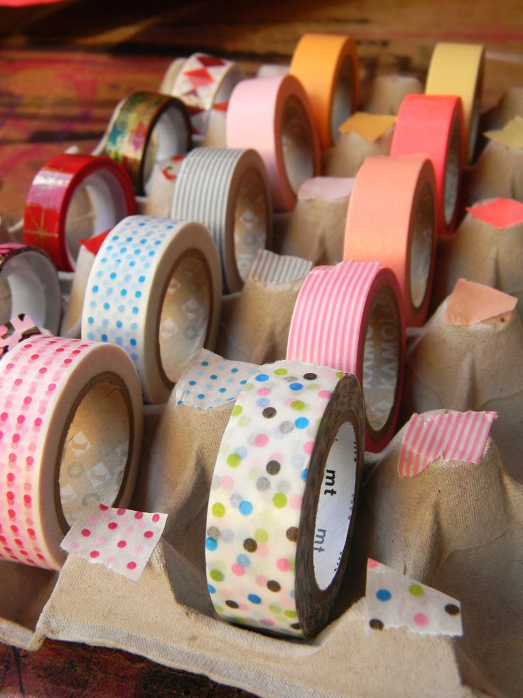 40 best washi tape storage ideas images on pinterest for Egg carton room