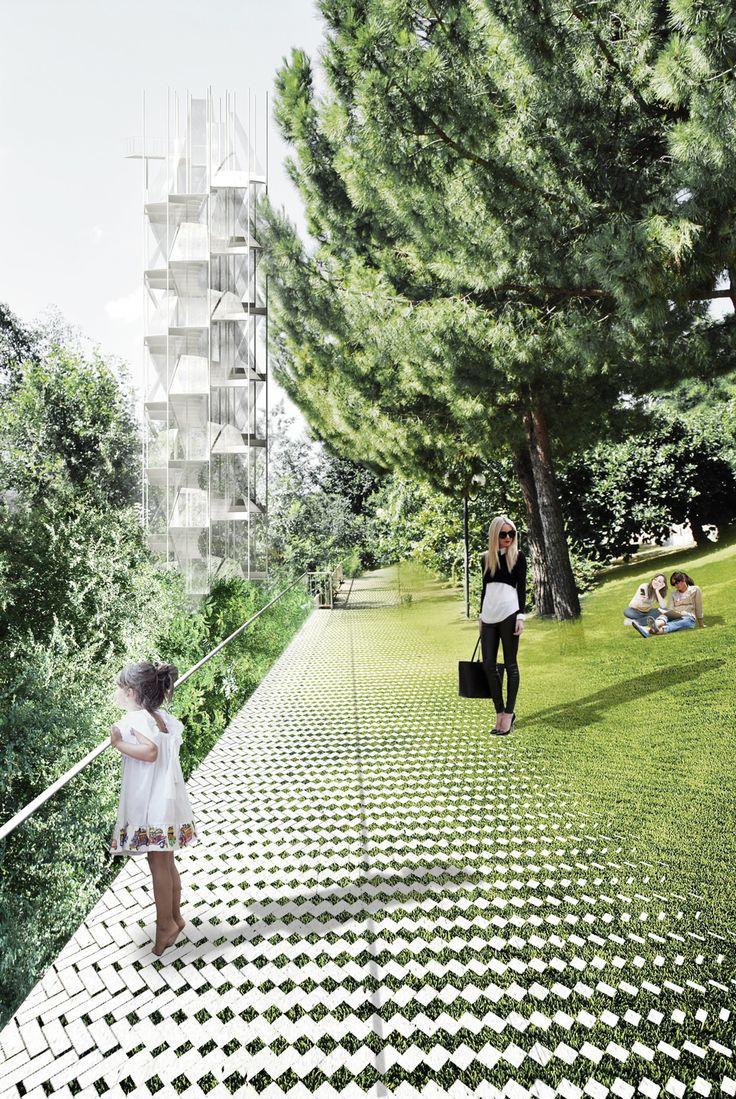EUROPAN 12 : KAGRAN (architect). Posible degradación de pasto en sendero de concreto.