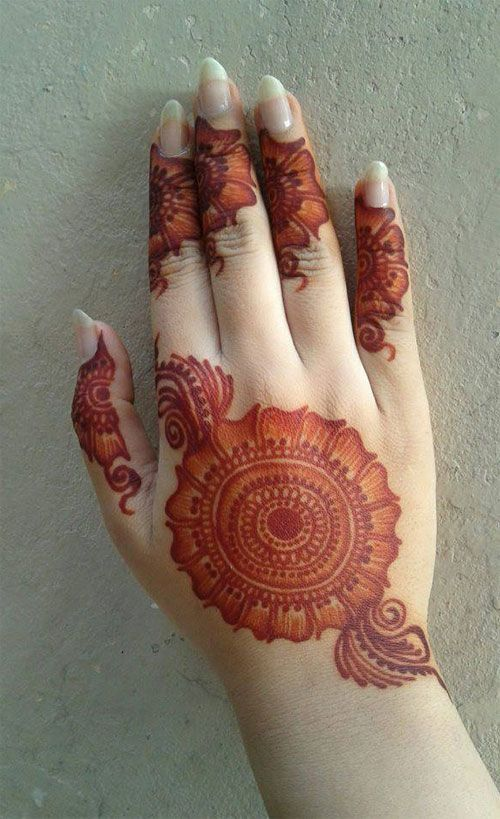 Mehandi Design for Back Hand Side