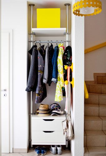 Make use of an awkward area in a small hallway with clever open storage #IKEAIDEAS from @luziapimpinella's home in Hamburg
