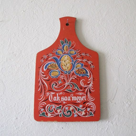 Vintage Scandinavian Trivet or Wall Hanging by mirrorghost on Etsy, $12.00