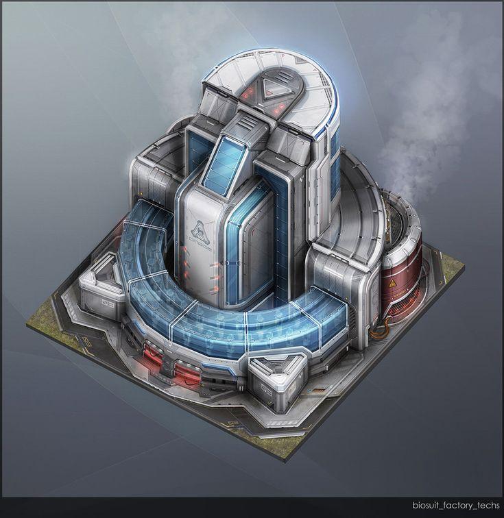 ArtStation - Anno 2070: Tech Buildings, Tobias Frank