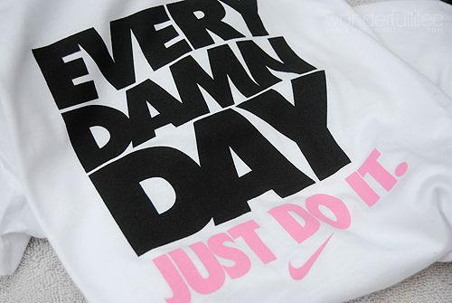 Still don't have any cool Nike shirts. Wishlist.