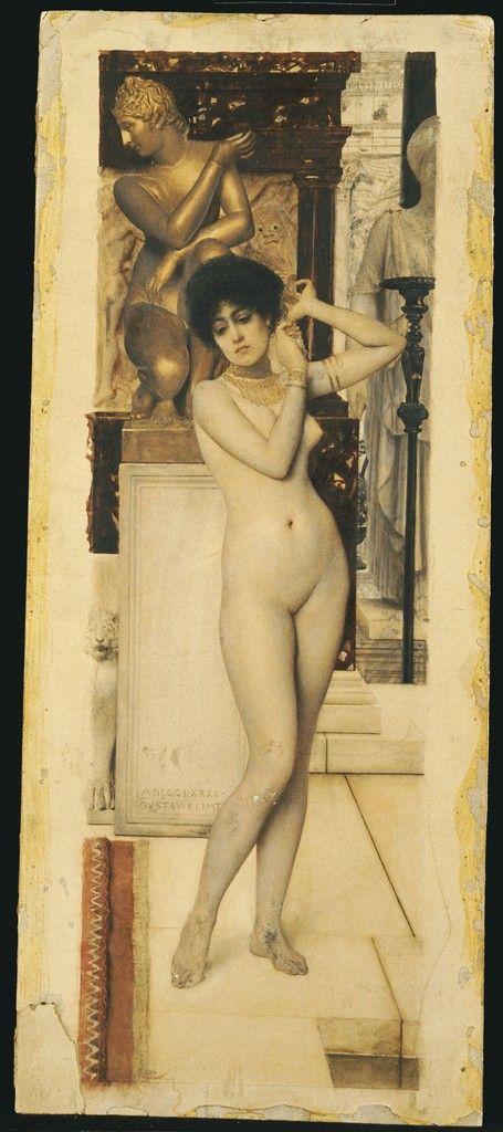 silenceforthesoul:  Gustav Klimt - Skigge und Engelstudie fur die Allegorie der Skulptur, 1890