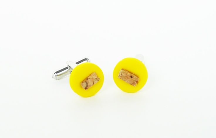 FunkLinks - Hot Yellow Cufflinks