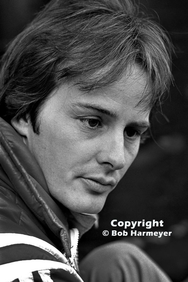 Gilles Villeneuve, photographed at the 1977 Canadian Grand Prix at Mosport, Villeneuve's first drive for Ferrari.
