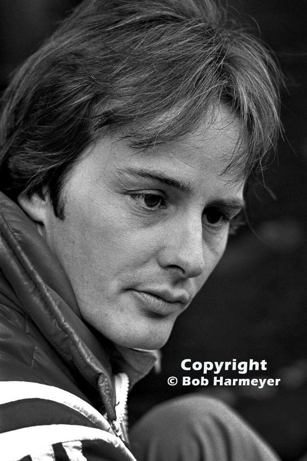 Gilles Villeneuve, photographed at the 1977 Canadian Grand Prix at Mosport, Villeneuve's first drive for Ferrari.